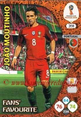 2018 - Panini FIFA World Cup Russia Adrenalyn XL - N° 391 - Joao MOUTINHO (Portugal) (Fans' Favourite)
