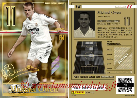 Panini Football League 2014 - PFL07 - N° 151 - Michael OWEN (Real Madrid) (Legend)