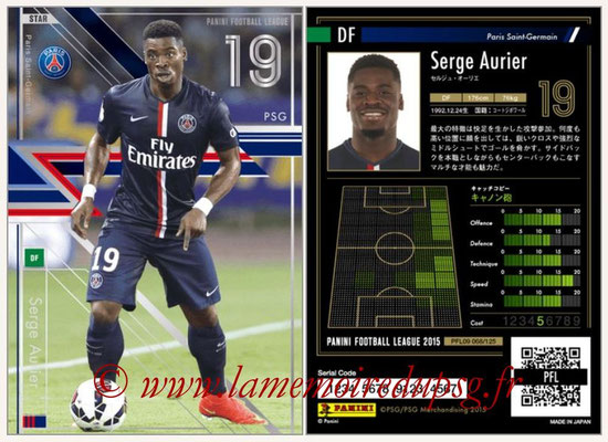 Panini Football League 2015 - PFL09 - N° 068 - Serge AURIER (Paris Saint-Germain) (Star)