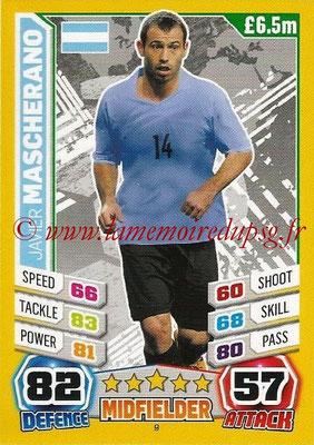 Topps Match Attax England 2014 - N° 009 - Javier MASCHERANO (Argentine)