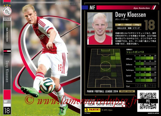 Panini Football League 2014 - PFL07 - N° 104 - Davy KLAASSEN (Ajax Amsterdam) (Star)