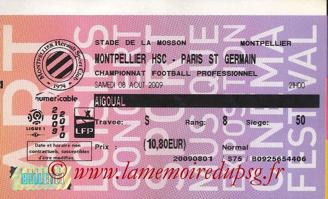 Tickets Montpellier-PSG  2008-09