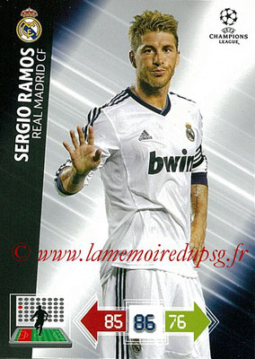 2012-13 - Adrenalyn XL champions League N° 218 - Sergio RAMOS (Real Madrid CF)