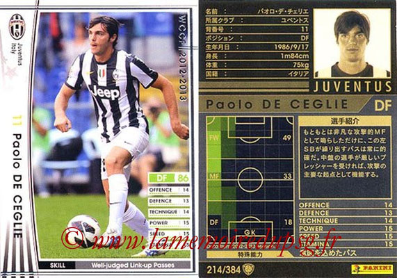 2012-13 - WCCF - N° 214 - Paolo DE CEGLIE (Juventus FC)