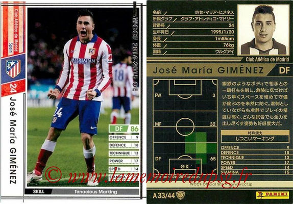 2013-14 - WCCF - N° A33 - José Maria GIMENEZ (Atletico Madrid)