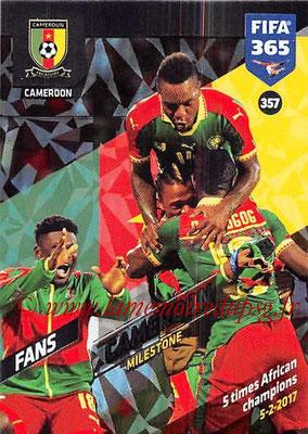 2017-18 - Panini FIFA 365 Cards - N° 357 - Célébration Cameroun (Milestone)