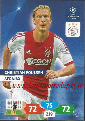 2013-14 - Adrenalyn XL champions League N° 032 - Christian POULSEN (AFC Ajax)