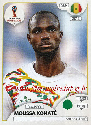 2018 - Panini FIFA World Cup Russia Stickers - N° 627 - Moussa KONATE (Senegal)