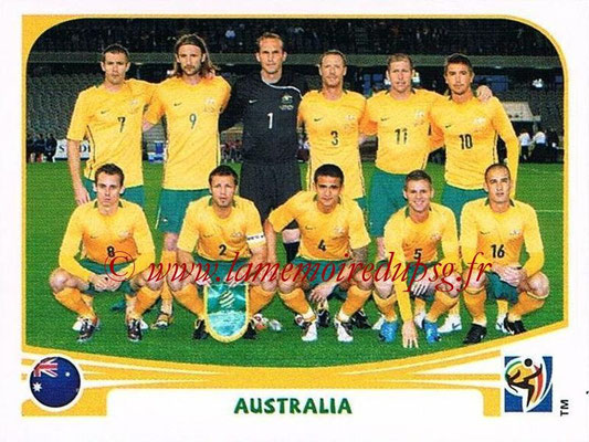 2010 - Panini FIFA World Cup South Africa Stickers - N° 277 - Équipe Australie