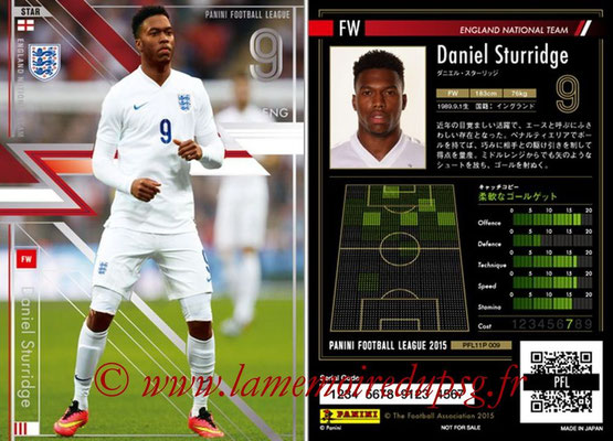 Panini Football League 2015 - PFL11P - N° 009 - Daniel STURRIDGE (Angleterre) (Star)