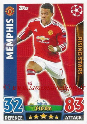2015-16 - Topps UEFA Champions League Match Attax - N° N14 - MEMPHIS (Manchester United FC) (Rising Stars) (Nordic Edition)