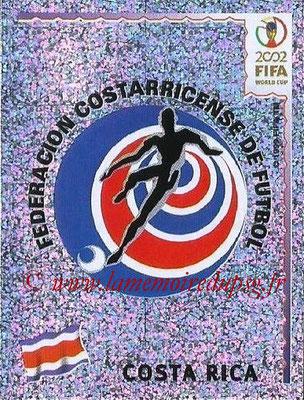 2002 - Panini FIFA World Cup Stickers - N° 224 - Logo Costa Rica