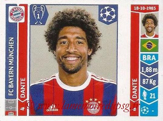 2014-15 - Panini Champions League N° 348 - DANTE (FC Bayern Munich)