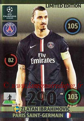 2014-15 - Adrenalyn XL champions League Update edition N° LEU-ZI - Zlatan IBRAHIMOVIC (Paris Saint-Germain) (Limited Edition)