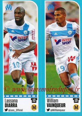 2016-17 - Panini Ligue 1 Stickers - N° 392 + 393 - Lassana DIARRA + William VAINQUEUR (Marseille)