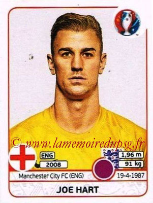 Panini Euro 2016 Stickers - N° 129 - Joe HART (Angleterre)