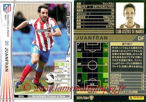 2012-13 - WCCF - N° 309 - JUANFRAN (Atletico  Madrid)