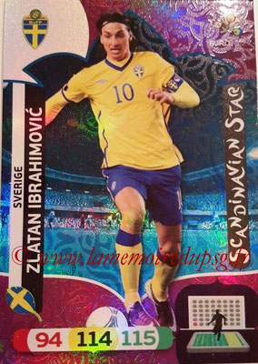Panini Euro 2012 Cards Adrenalyn XL - N° 312 - Zlatan IBRAHIMOVIC (Suède) (Scandinavian Star) (Nordic Edition)