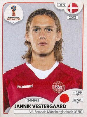 2018 - Panini FIFA World Cup Russia Stickers - N° 255 - Jannik VESTERGAARD (Danemark)