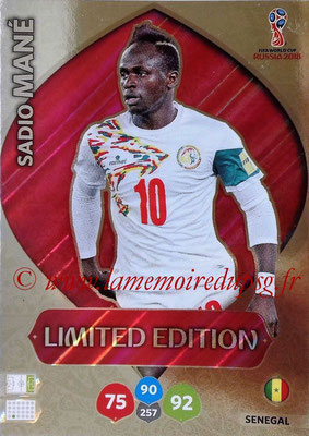 2018 - Panini FIFA World Cup Russia Adrenalyn XL - N° LE-SM - Sadio MANE (Senegal) (Limited Edition)