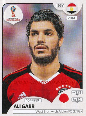 2018 - Panini FIFA World Cup Russia Stickers - N° 075 - Ali GABR (Egypte)