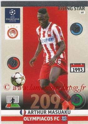 2014-15 - Adrenalyn XL champions League N° 197 - Arthur MASUAKU (Olympiacos FC) (Risin star)