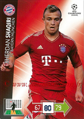 2012-13 - Adrenalyn XL champions League N° 048 - Xherdan SHAQIRI (FC Bayern Munich)