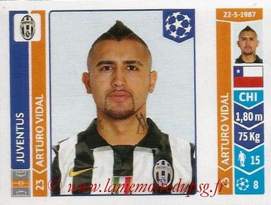 2014-15 - Panini Champions League N° 060 - Arturo VIDAL (Juventus Turin)