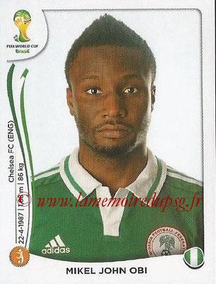 2014 - Panini FIFA World Cup Brazil Stickers - N° 479 - Mikel John OBI (Nigéria)