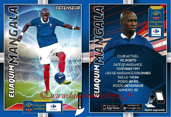 WC 2014 Collection Carrefour 3D Bleus - N° 08 - Eliaquim MANGALA (FC Porto)