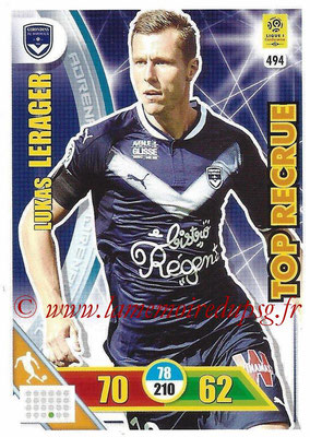 2017-18 - Panini Adrenalyn XL Ligue 1 - N° 494 - Lukas LERAGER (Bordeaux) (Top Recrue)