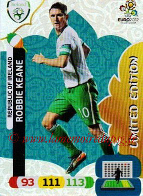 Panini Euro 2012 Cards Adrenalyn XL - N° LE42 - Robbie KEANE (Eire) (Limited Edition)