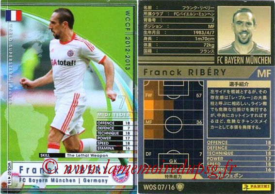 2012-13 - WCCF - N° WOS07 - Frank RIBERY (FC Bayern Munich) (World Superstar)