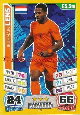 Topps Match Attax England 2014 - N° 179 - Jeremain LENS (Pays-Bas)