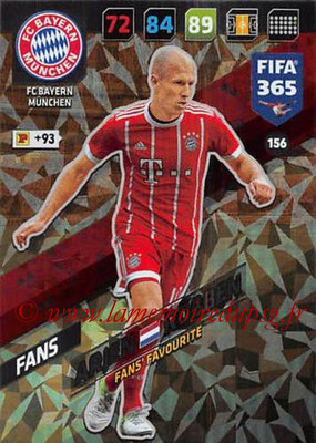 2017-18 - Panini FIFA 365 Cards - N° 156 - Arjen ROBBEN (FC Bayern Munich) (Fans' Favourite)