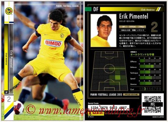 Panini Football League 2013 - PFL02 - N° 121 - Erik Pimentel ( Club America )