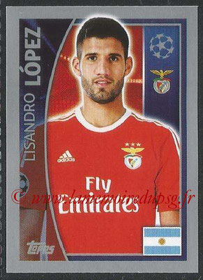 2015-16 - Topps UEFA Champions League Stickers - N° 165 - Lisandro LOPEZ (SL Benfica)