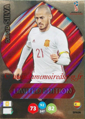 2018 - Panini FIFA World Cup Russia Adrenalyn XL - N° LE-DS1 - David SILVA (Espagne) (Limited Edition)