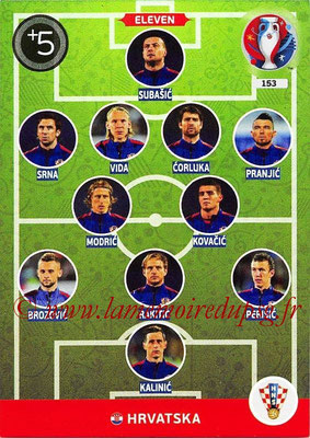 Panini Euro 2016 Cards - N° 153 - Équipe Type de Croatie