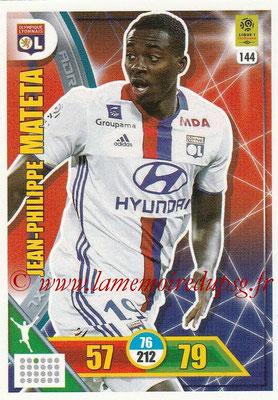 2017-18 - Panini Adrenalyn XL Ligue 1 - N° 144 - Jean-Philippe MATETA (Lyon)
