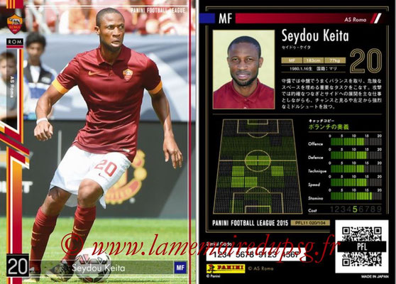Panini Football League 2015 - PFL11 - N° 020 - Seydou KEITA (AS Rome)