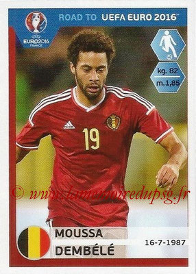 Panini Road to Euro 2016 Stickers - N° 013 - Moussa DEMBELE (Belgique)