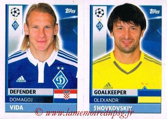 2016-17 - Tops UEFA Champions League Stickers - N° DYN 4-5 - Olexandr SHOVKOVSKIY + Domagoj VIDA (FC Dynamo Kiev)