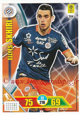 2017-18 - Panini Adrenalyn XL Ligue 1 - N° 204 - Ellyes SKHIRI (Montpellier)