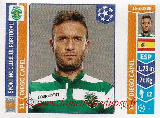 2014-15 - Panini Champions League N° 539 - Diego CAPEL (Sporting Club de Portugal)