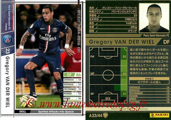 2013-14 - WCCF - N° A23 - Gregory VAN DER WIEL (Paris Saint-Germain)