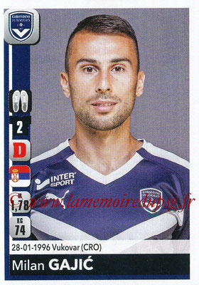 2018-19 - Panini Ligue 1 Stickers - N° 053 - Milan GAJIC (Bordeaux)