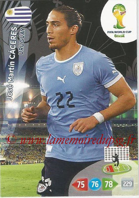 2014 - Panini FIFA World Cup Brazil Adrenalyn XL - N° 309 - Jose Martin CACERES (Uruguay)