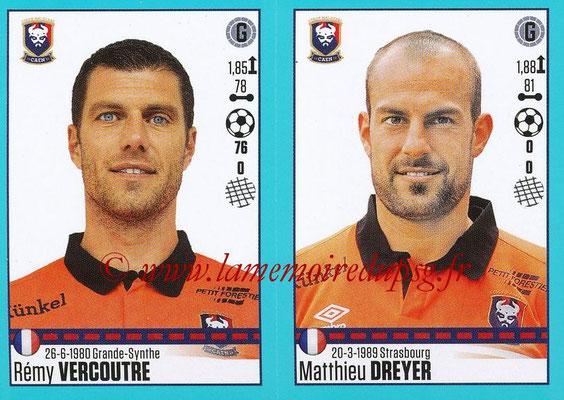 2016-17 - Panini Ligue 1 Stickers - N° 146 + 147 - Rémy VERCOUTRE + Matthieu DREYER (Caen)