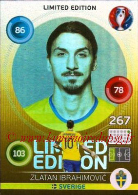 Panini Euro 2016 Cards - N° LE84 - Zlatan IBRAHIMOVIC (2012-??, PSG > 2016, Suède) (Limited Edition) (Hero)